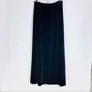 Alex Evenings long velvety black skirt